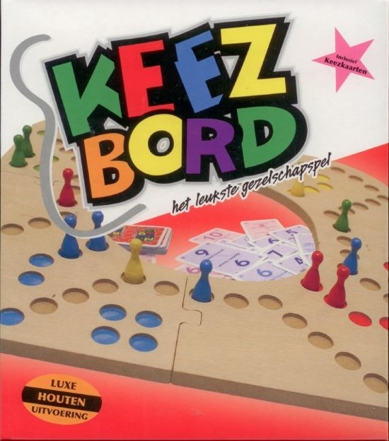 Keez bord 4-6 persoons hout