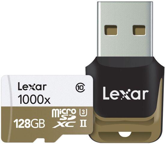 Lexar Professional Micro SD kaart 128GB met USB 3.0 reader