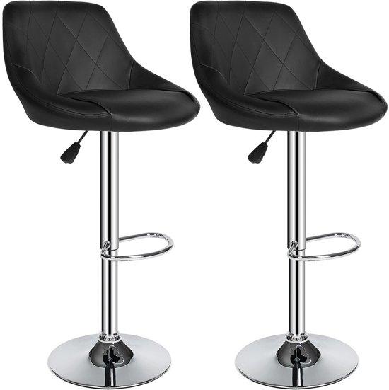 TecTake barkruk - Set van 2 barkrukken barstoel tafelkruk kruk, design - 401570