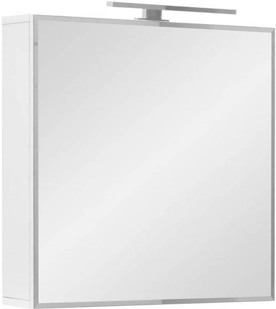 athena spiegelkast 60 cm met led verlichting wit hoogglans
