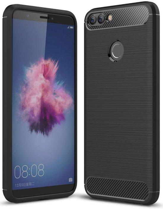 Huawei p smart geborsteld tpu hoesje zwart for Huawei p8 te koop