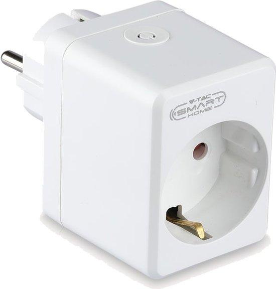 V-tac Smarthome VT-5002 Slimme stekker compact - Slimme schakelaar - WIFI Stopcontact - Smart plug - Werkt met Amazon Alexa en Google Home Assistant
