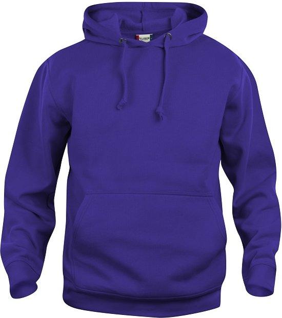 Clique Basic hoody helder lila maat XXL