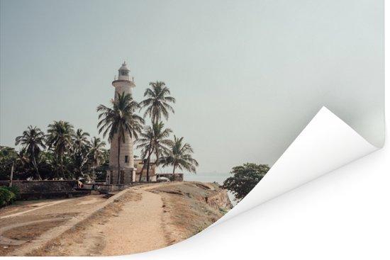 De oudste vuurtoren van Sri Lanka bij Fort Galle Poster 60x40 cm - Foto print op Poster (wanddecoratie woonkamer / slaapkamer)
