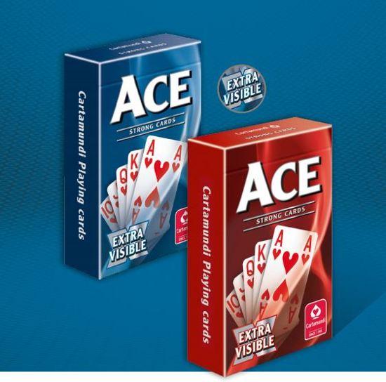 Afbeelding van het spel Ace Bridge Extra Grote kaartpunten - Blauw