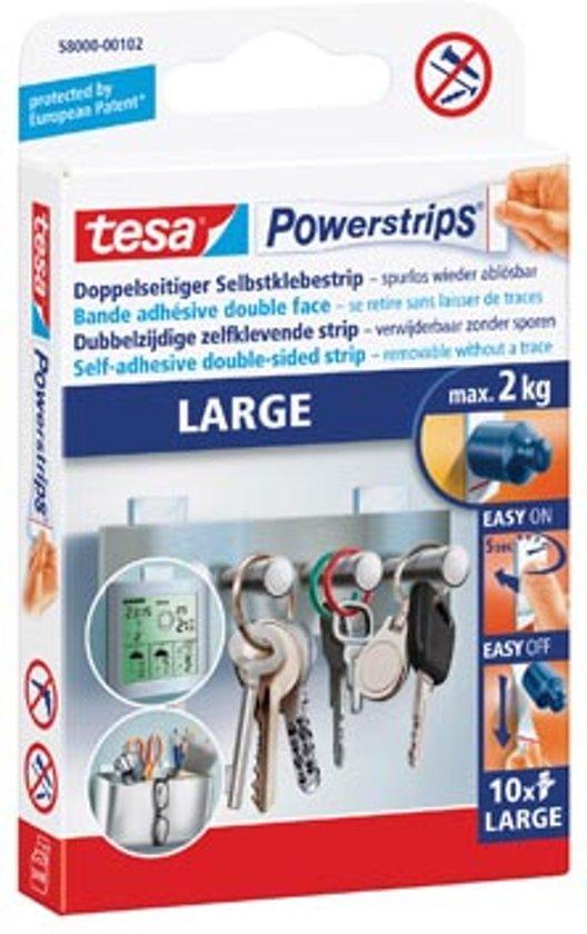 Tesa kleefstrip Powerstrips draagkracht 2 kg blister van 10 stuks