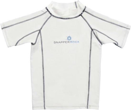 Snapper Rock UV werend T-shirt Kinderen korte mouwen - Wit - Maat 116-122