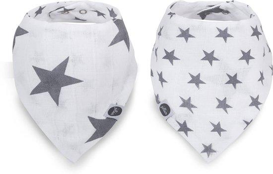 Jollein Little star Slab bandana hydrofiel antraciet  (2pack)