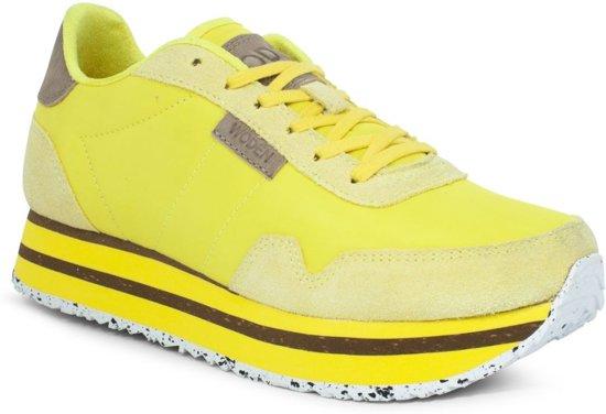 10b616274e7 bol.com | WODEN Dames Sneakers Nora Ii Plateau - Neon - Maat 38