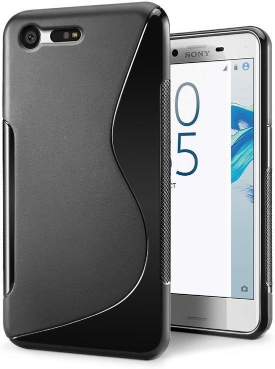 Sony Xperia X Compact  smartphone hoesje tpu siliconen case s-line zwart