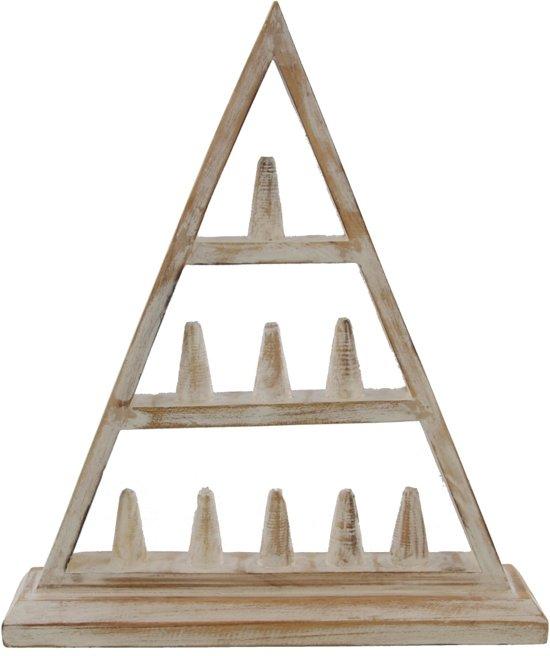 Sieradenhouder Piramide - Display voor Ringen - Hout - 30x35 cm - Wit - Dielay