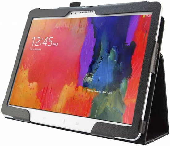Stand Case voor de Samsung Galaxy TabPro 10.1   Kleur Zwart, merk i12cover