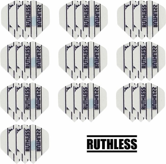 Dragon darts - 10 Sets (30 stuks) - Ruthless - sterke flights - Wit - darts flights