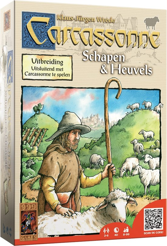 Afbeelding van het spel Carcassonne Schapen & Heuvels - Uitbreiding
