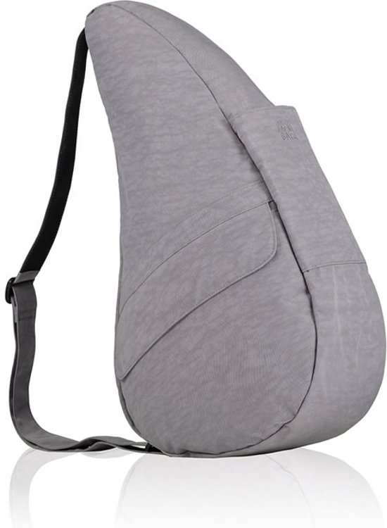 HEALTHY BACK BAG Rugzak - Textured Nylon - Pebble Grey - Medium - 6304-PG