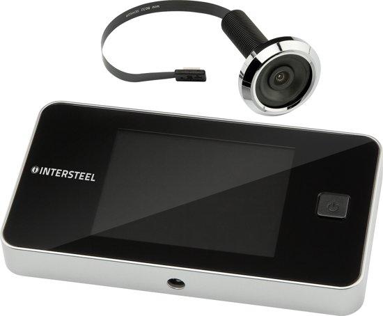 Intersteel digitale deurspion - Met camera - Incl. batterijen en bevestigingsmateriaal