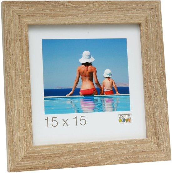 Deknudt Frames S49BH1  15x20cm Fotokader afgewerkt in een naturelle houtkleur