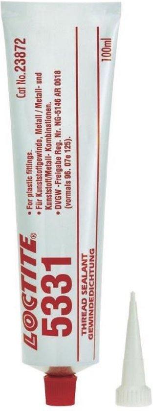 Loctite 5331 draadafdichting kunststof op kunststof en ijzer op kunststof