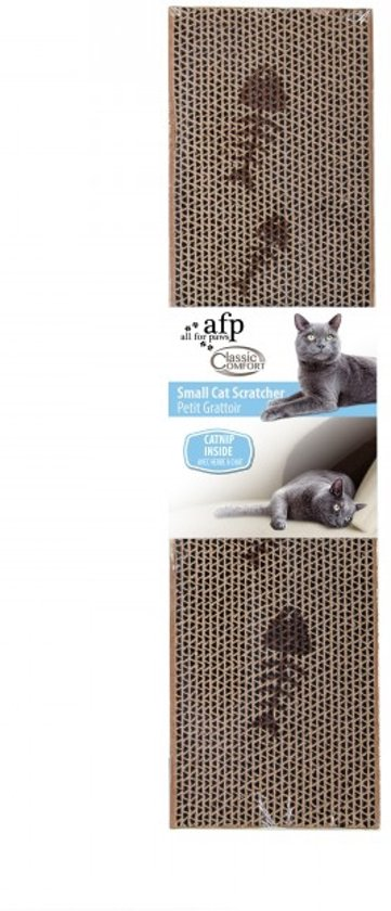 AFP Cardboard Scratcher - Regular - 44x11cm - With Catnip