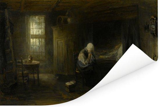 Alleen op de wereld - Schilderij van Jozef Israëls Poster 120x80 cm - Foto print op Poster (wanddecoratie woonkamer / slaapkamer)