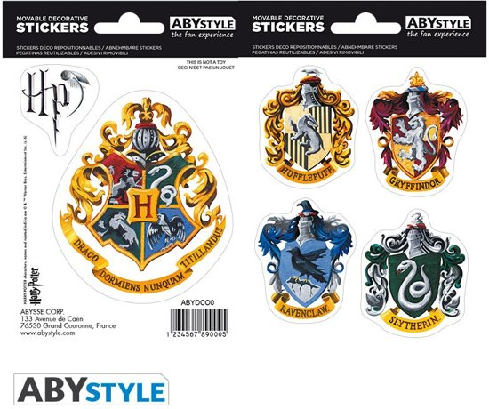 HARRY POTTER - Stickers - 16x11cm/ 2 planches - Hogwarts Houses X5