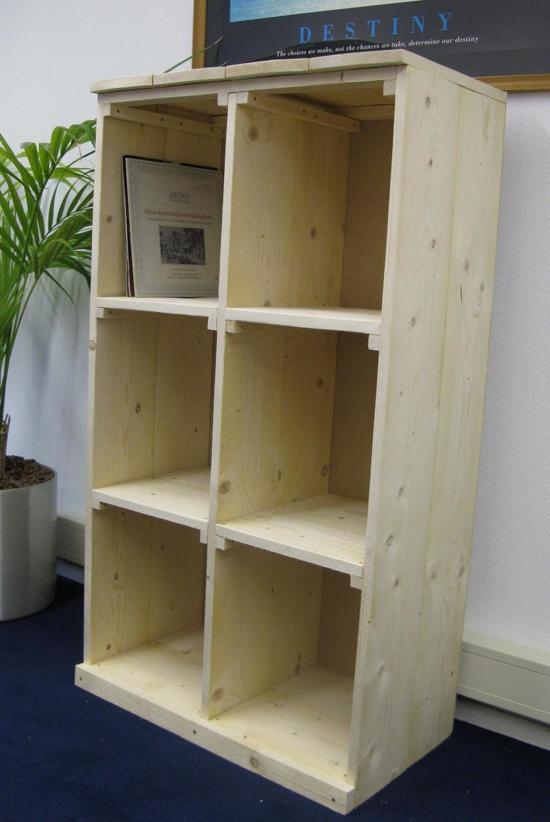 Bolcom Lp Vinyl Kast Vakkenkast Onbewerkt Hout