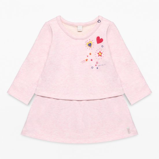 Esprit Meisjes Jurk - roze - Maat 74
