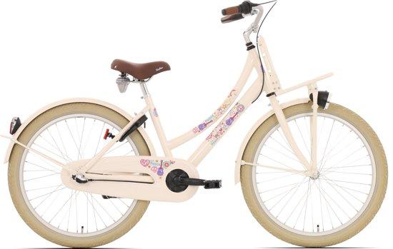 Kinderfiets Bike Fun Love&Peace meisjes 24 inch nexus 3 cream