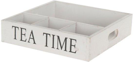 Houten Dienblad 'Tea Time'