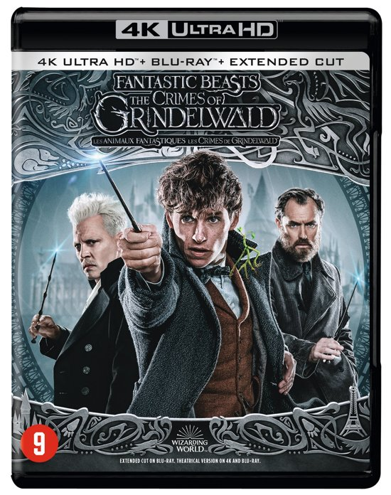 DVD cover van Fantastic Beasts: The Crimes of Grindelwald (4K Ultra HD Blu-ray) (Extended Edition)