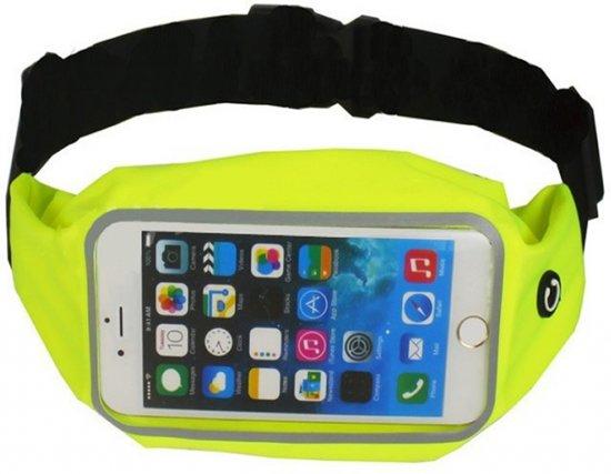 Sport heupband (M) sportband voor Smartphones, goed verstelbare riem, o.a. sporten met de iPhone 4/4s/5/5c/5s/SE/6/6s/7/7s/8, Galaxy S4mini/S5mini/A3/Ace 2/3/4 en vele anderen: max. maat +/- 138 x 67mm, geel , merk BEACTIFF