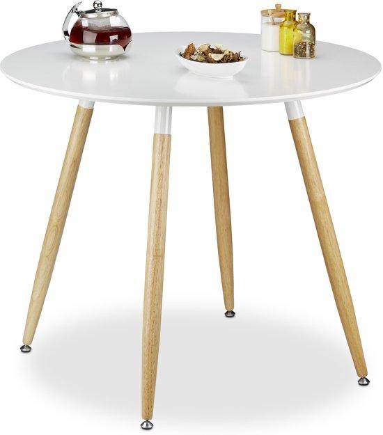 Ronde Tafel Scandinavisch Design.Bol Com Relaxdays Eettafel Rond Eetkamertafel Eetkamer Tafel