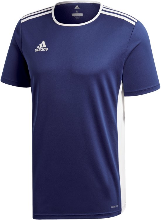 a10c14b74f7 adidas Entrada 18 SS Jersey Sportshirt performance - Maat 116 - Unisex -  blauw