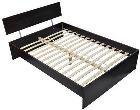 Matras 180 Lang : Bol vidaxl bed houten bed met matras donker bruin