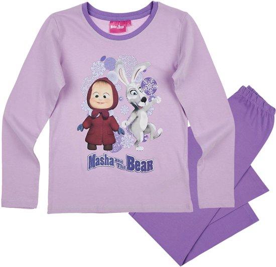 Masha-and-The-Bear-Pyjama-paars-maat-128