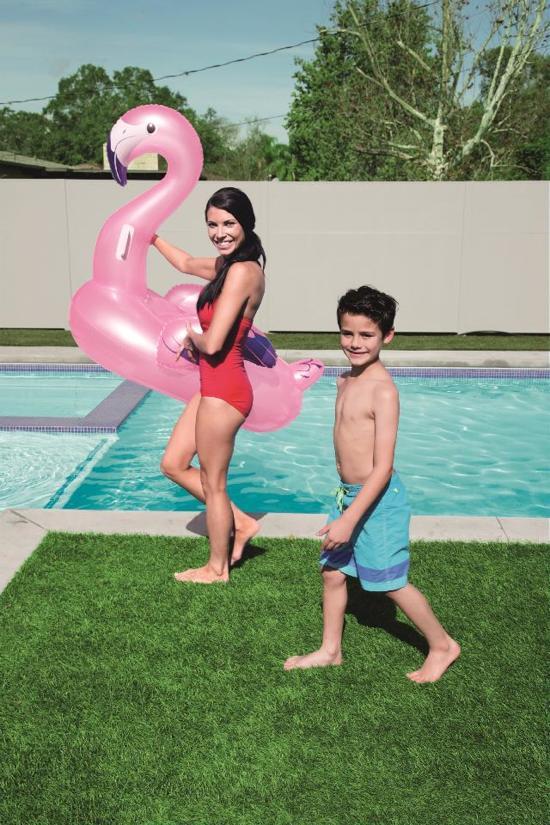 Bestway - Zwembad - Opblaasbare Luxe Flamingo - 122x99x105 cm