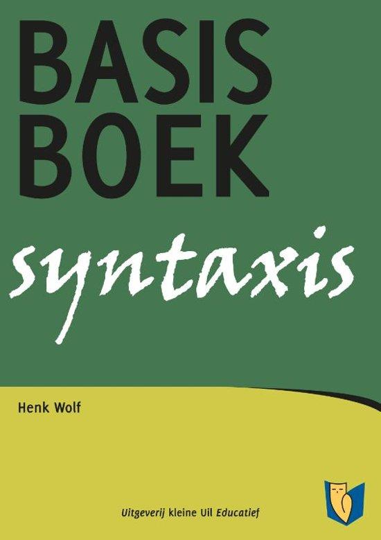 Basisboek syntaxis