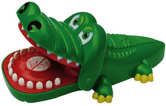 Afbeelding van Spel Bijtende Krokodil met kiespijn speelgoed