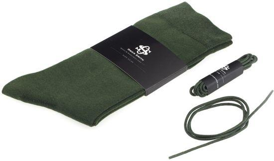 Owen Smith - Herensokken groen - met Veters - maat 43-46 veterlengte 65cm
