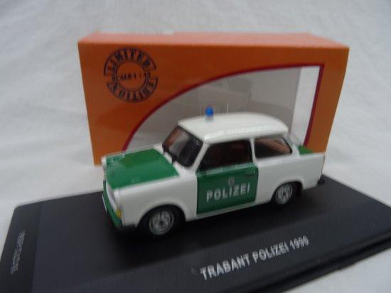 Ixo-models Trabant Polizei 1990 Groen-Wit Schaal 1:43