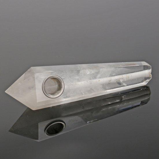 100% natuurlijke bergkristal wand fluoriet pijp met carbongat