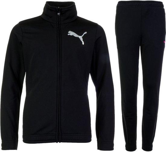 5beb15b5e45 bol.com   Puma PolySuit Junior Trainingspak - Maat 116 - Meisjes - zwart