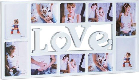 Fotolijst 10 Fotos.Bol Com Relaxdays Fotolijst Love 10 Foto S Collagelijst