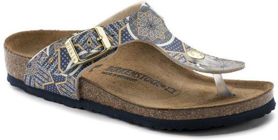 8db145736c8 bol.com | Birkenstock Gizeh oriental mosaic blauw narrow sandalen ...
