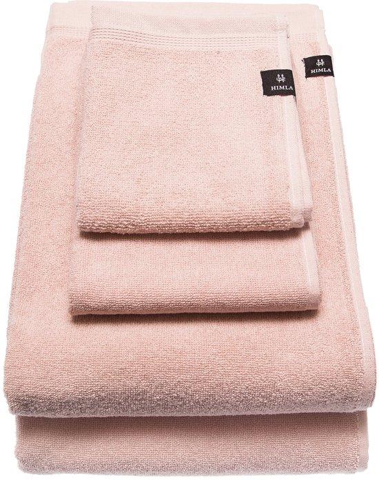 Lina handdoek rose 30 x 50 cm - in set van 2