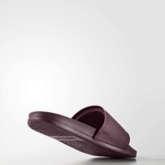 adidas adilette Cloudfoam Plus Slides - Slippers - Heren - 8 - Maroon