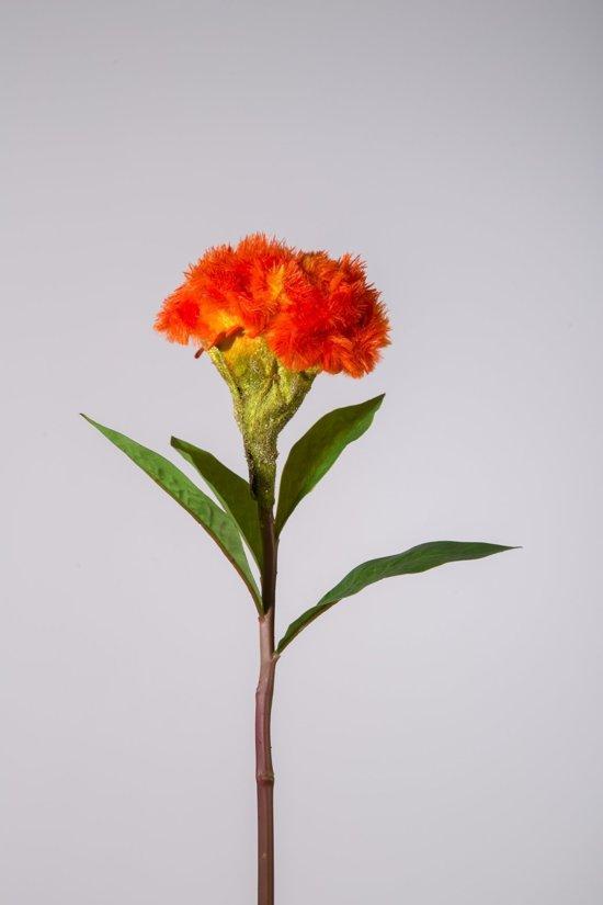 Viv! Home Luxuries Hanekam - zijden bloem - oranje - topkwaliteit