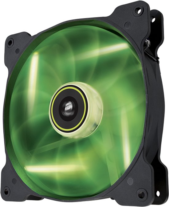 Corsair The Air Series SP 140 LED High Static Pressure Fan Cooling Green SinglePack