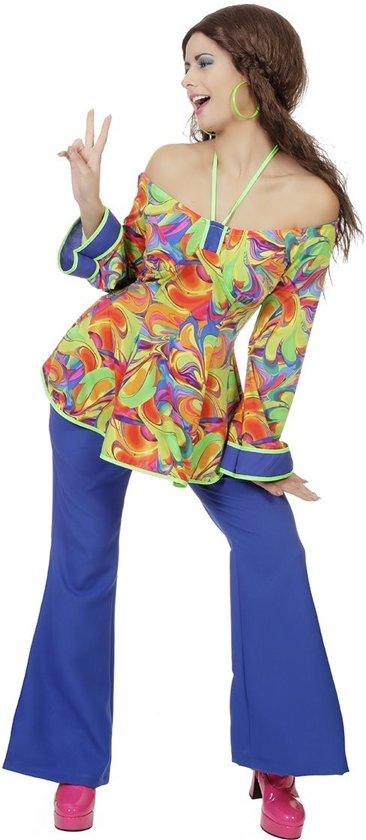 Hippie Kostuum   Ladies Night Hippie Jaren 60   Vrouw   Maat 48   Carnaval kostuum   Verkleedkleding