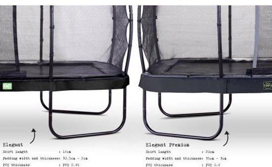 EXIT Elegant trampoline ø427cm met veiligheidsnet Deluxe - zwart